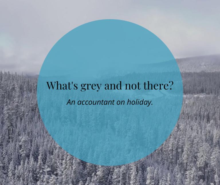 Grey Accountant Christmas Joke