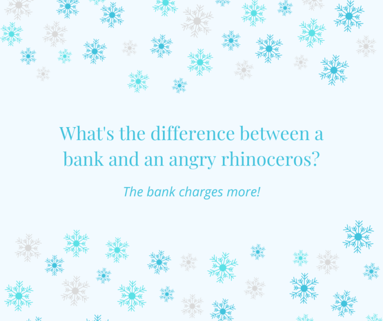 Bank fees joke