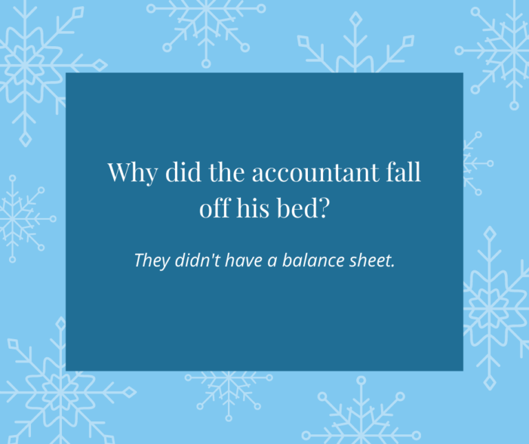 Account Fell Out of Bed Joke