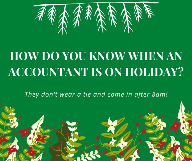 Accountant on Holiday Joke