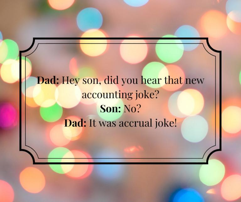 Dad and Son Accounting Joke