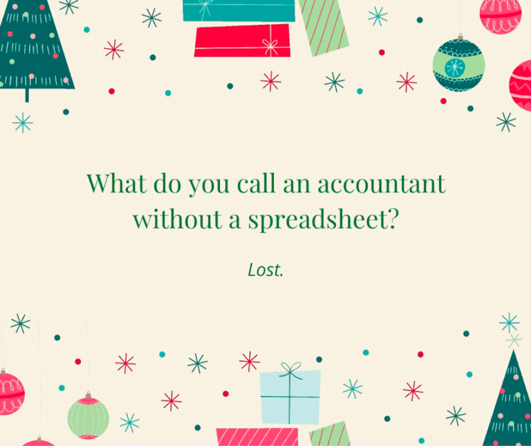 Accountant with Spreadsheet Joke