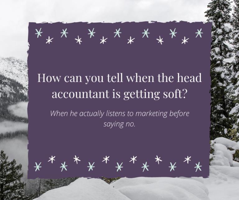 Head accountant joke
